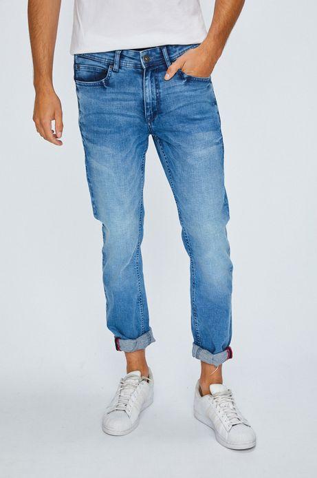 Jeansy męskie proste niebieskie