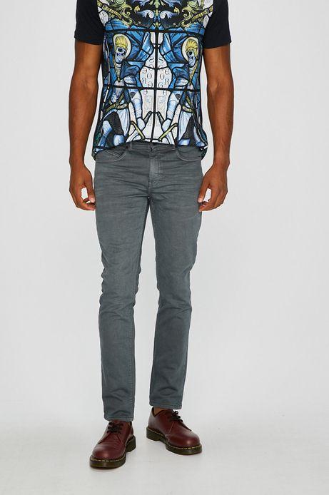 Man's Jeansy męskie skinny szare z podwyższoną talią