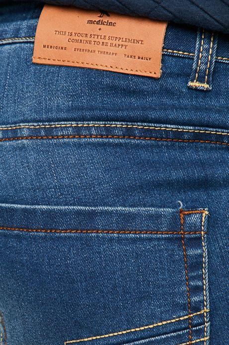 Jeansy męskie regular niebieskie ze spranego denimu