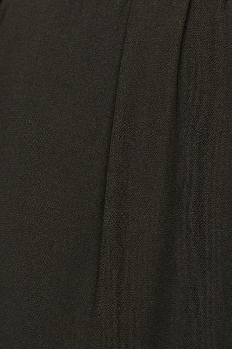 Kombinezon damski czarny z kopertowym dekoltem