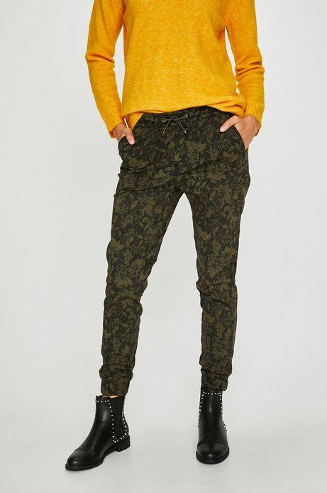 Spodnie damskie zielone luźne
