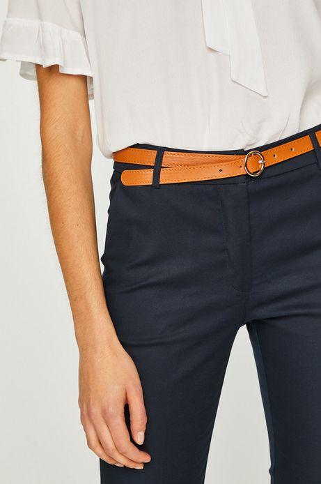 Spodnie damskie proste granatowe