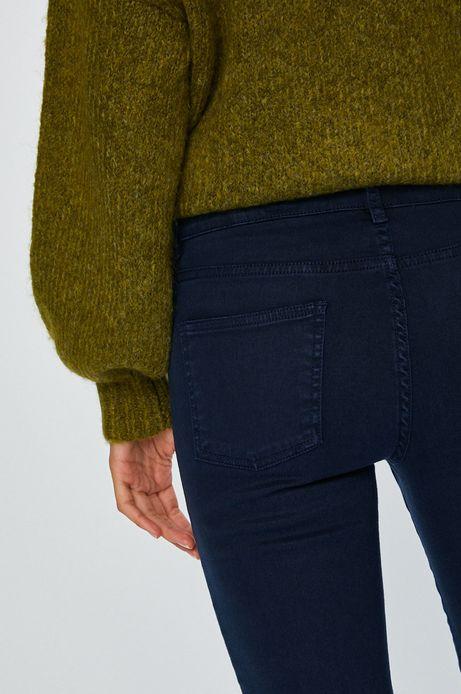 Spodnie damskie granatowe gładkie rurki