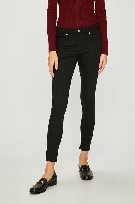 Spodnie damskie czarne gładkie rurki