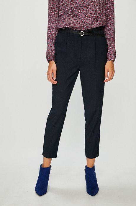 Spodnie damskie granatowe ze zwężaną nogawką
