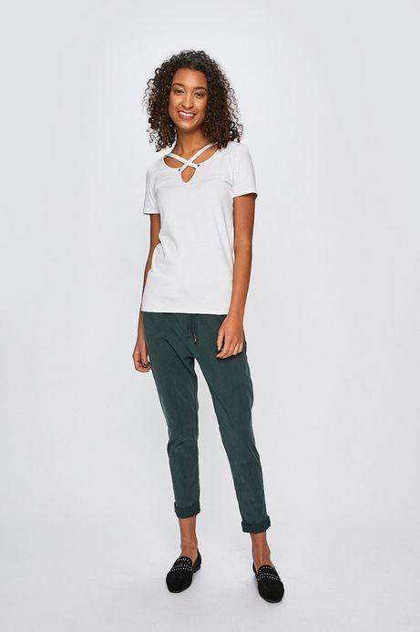 Spodnie damskie chinosy zielone