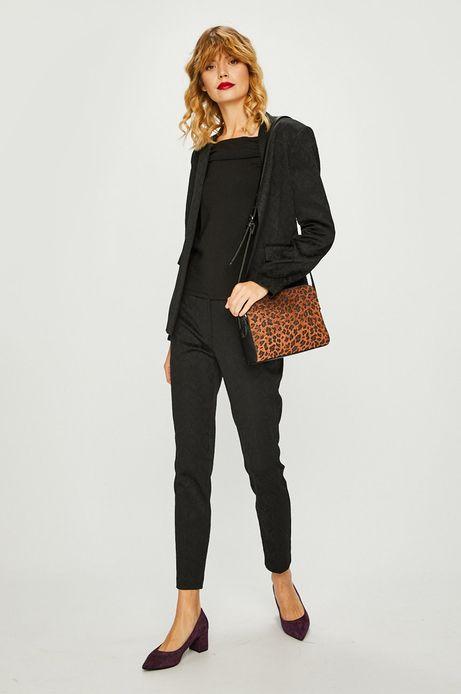 Spodnie damskie czarne żakardowe