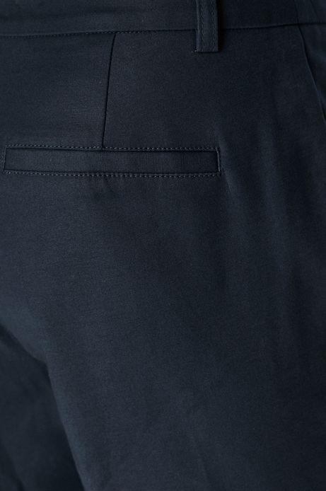Spodnie damskie granatowe o prostym kroju