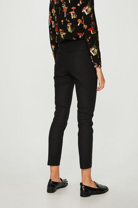 Spodnie damskie proste czarne gładkie