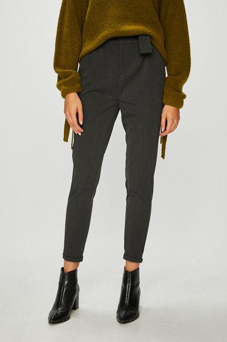 Spodnie damskie szare z podwyższonym stanem