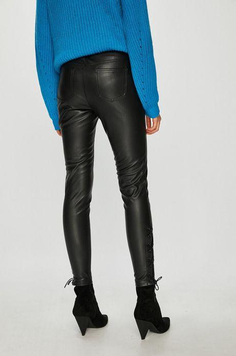 Spodnie damskie czarne z imitacji skóry