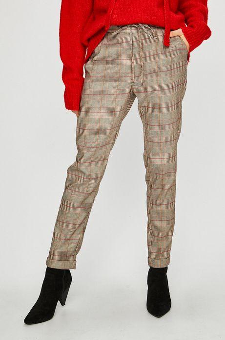 Spodnie damskie w kratę ze zwężaną nogawką