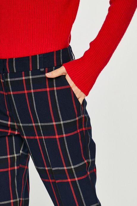 Spodnie damskie granatowe w kratę