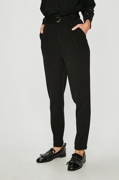 Spodnie damskie czarne z podwyższonym stanem