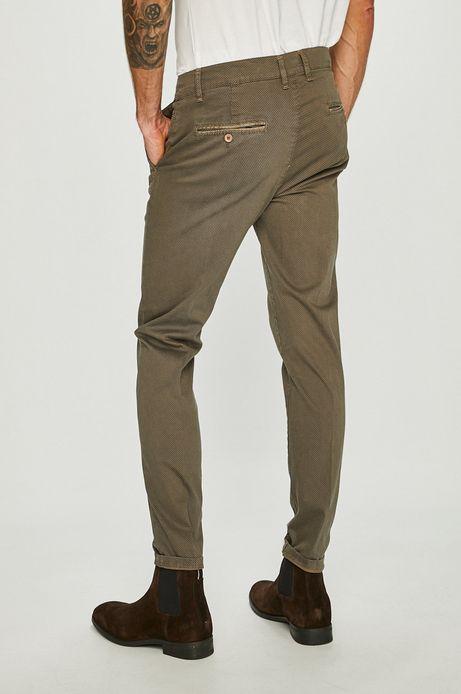 Spodnie męskie brązowe chinosy
