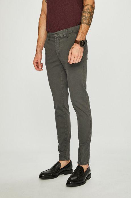 Spodnie męskie szare chinosy