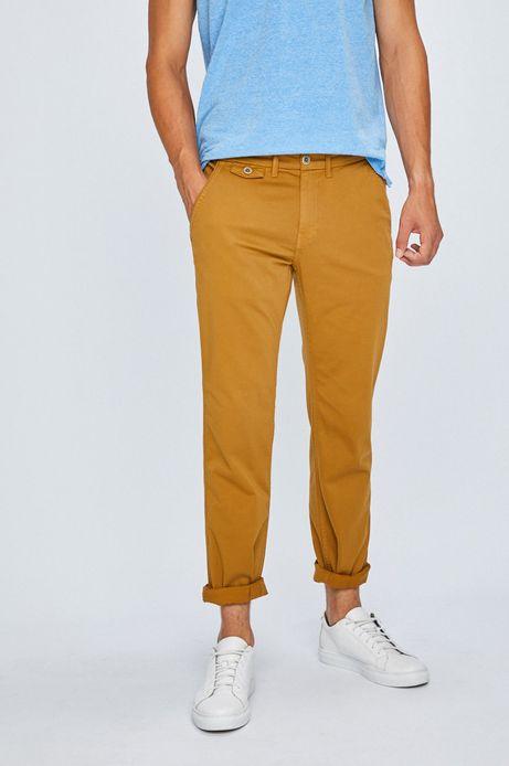 Spodnie męskie chinosy pomarańczowe