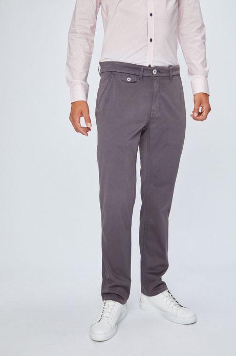 Spodnie męskie chinosy szare
