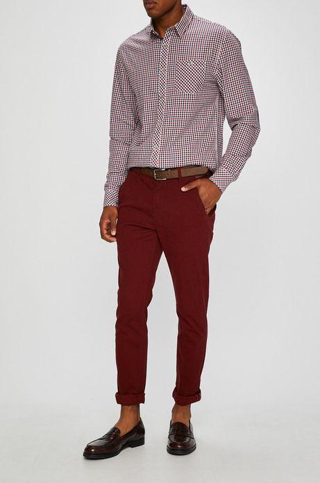 Man's Spodnie męskie chino różowe wzorzyste