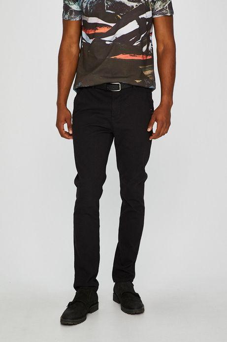Man's Spodnie męskie chino czarne wzorzyste