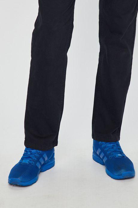 Spodnie męskie regular granatowe gładkie