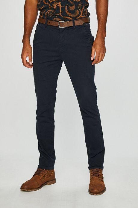 Spodnie męskie slim fit granatowe gładkie