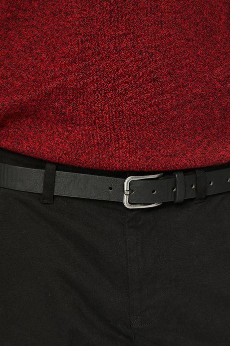 Spodnie męskie slim fit czarne gładkie