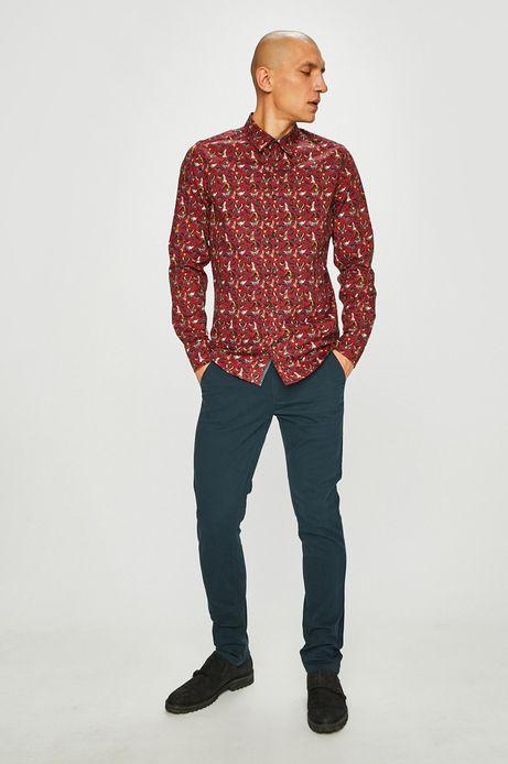 Spodnie męskie slim fit zielone