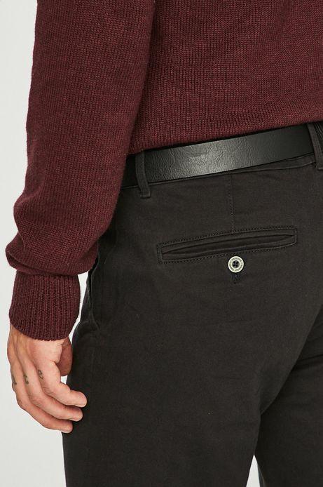 Spodnie męskie slim fit czarne