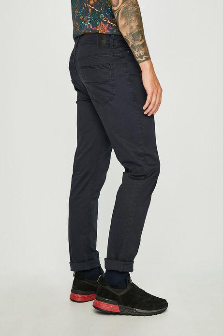 Spodnie męskie regular gładkie granatowe