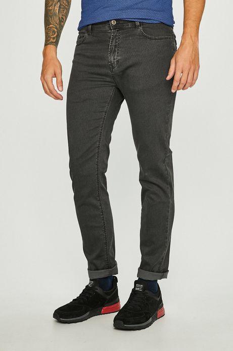Spodnie męskie regular gładkie szare