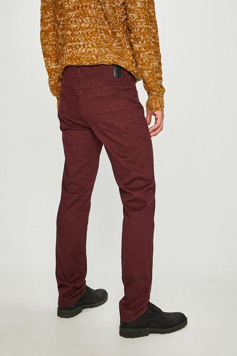 Spodnie męskie regular gładkie brązowe