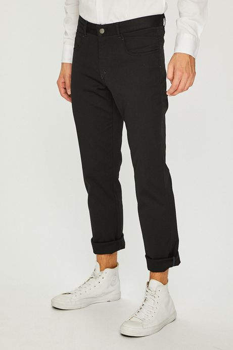 Spodnie męskie regular czarne