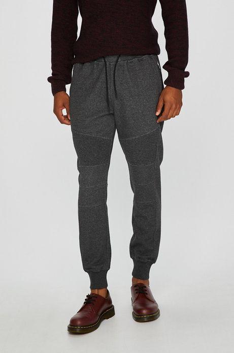 Spodnie męskie szare ze ściągaczami
