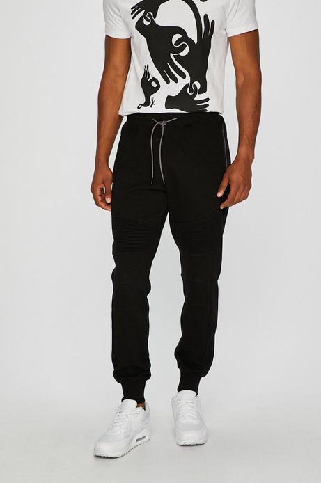 Spodnie męskie czarne ze ściągaczami