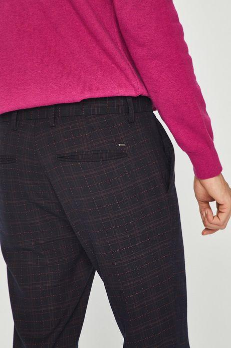 Spodnie męskie granatowe w kratę