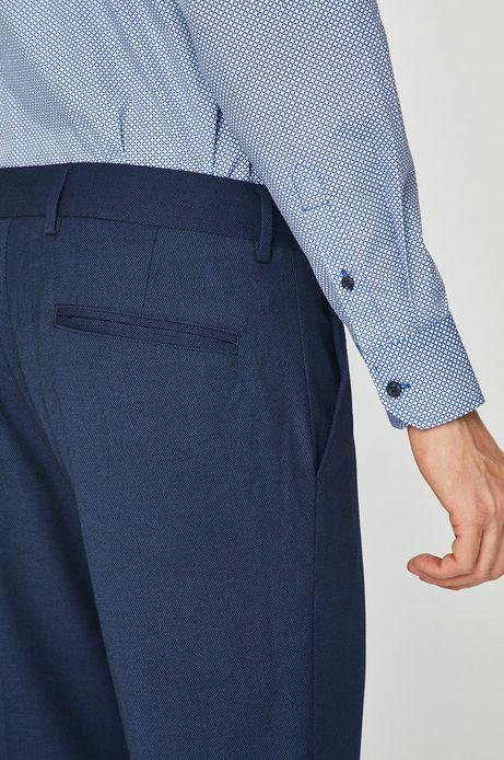 Spodnie męskie granatowe w kantkę