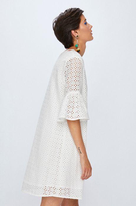 Sukienka damska biała ze wzorem