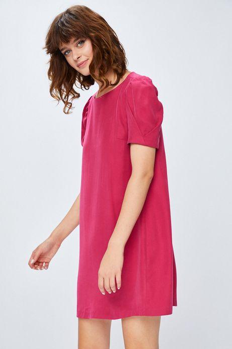 Sukienka damska różowa gładka