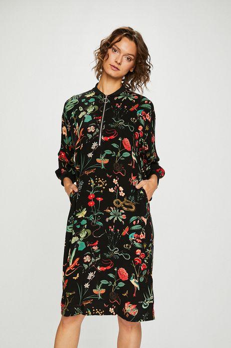 Woman's Sukienka damska we wzory z suwakiem