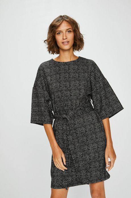 Sukienka damska szara wzorzysta