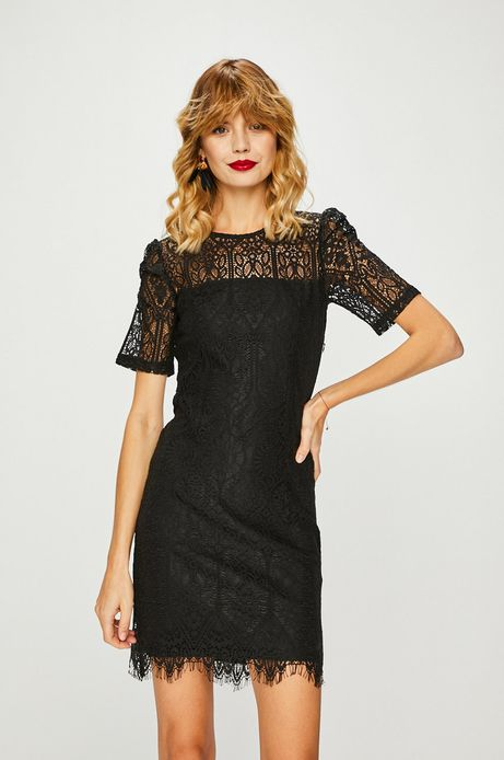 Sukienka damska czarna koronkowa
