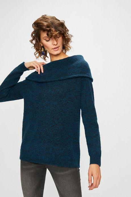 Sweter damski zielony gruby