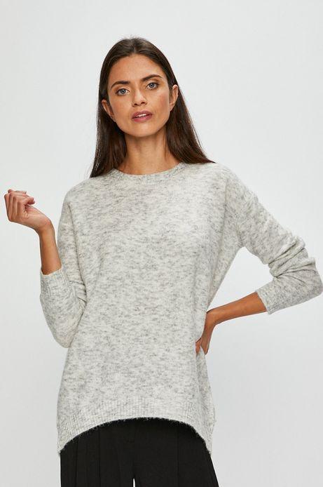 Sweter damski szary zakładany przez głowę