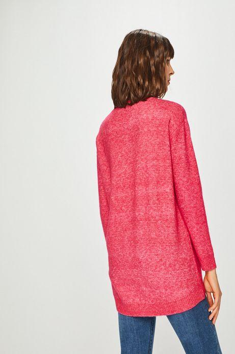 Sweter damski różowy zakładany przez głowę