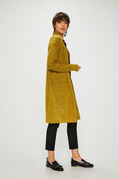 Sweter damski zółty cienki niezapinany
