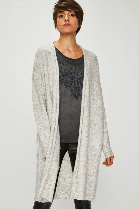 Sweter damski szary cienki niezapinany