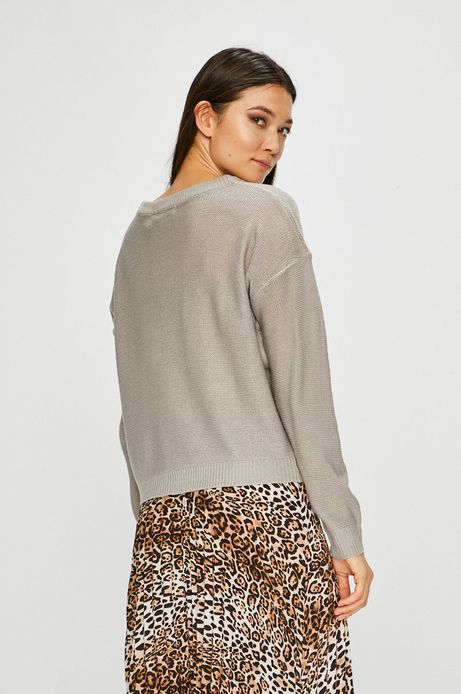 Sweter damski gładki szary