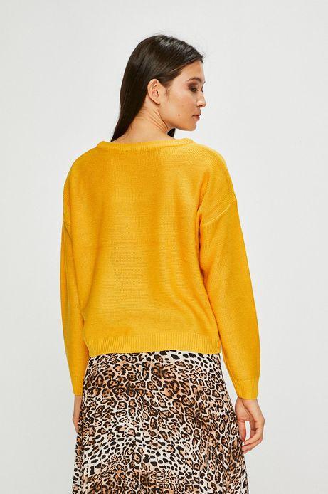 Sweter damski gładki żółty