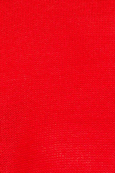 Sweter damski gładki czerwony